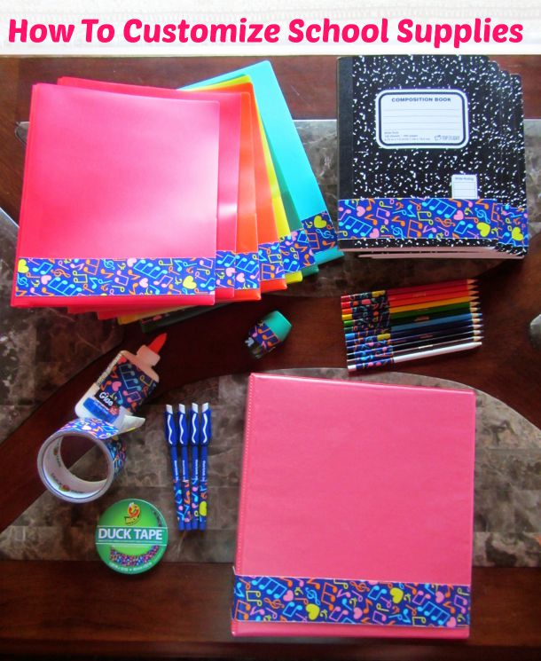 Fun back to school duck tape project to customize school for Craft schools in usa