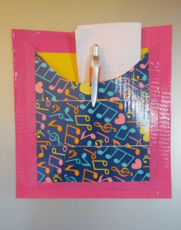 Easy and cute diy locker pocket family focus blog for Mini duct tape crafts