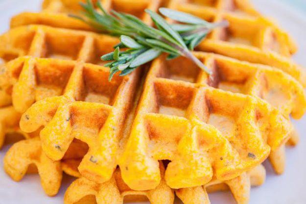 Healthy Waffles Recipe: Sweet Potato and Rosemary Waffles