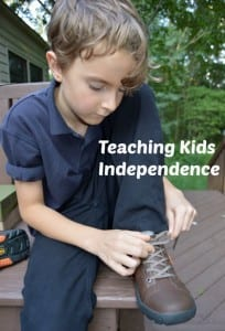 tips for teaching kids independence