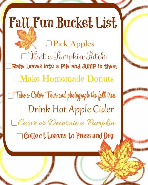 family fall bucket list