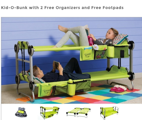 Kid O Bunk Portable Bunk Beds For Sleepovers And Camping