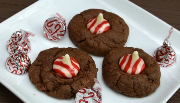 Candy Cane Kisses Peppermint Chocolate Cookies Recipe