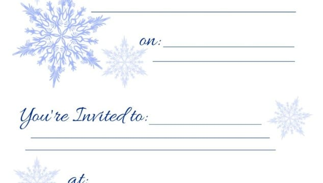 Free Printable Holiday Invitations