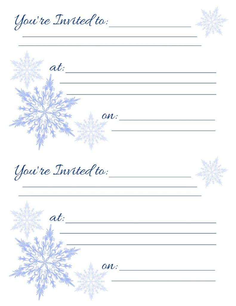 Free Printable Holiday Invitations