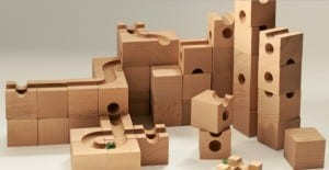 A Challenging Solid Wood Marble Run Toy