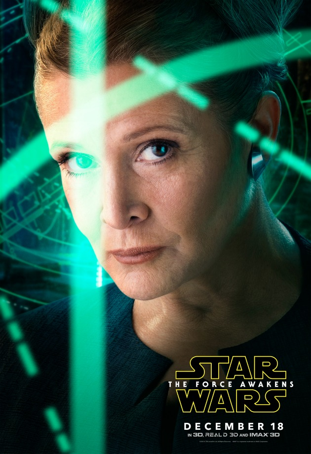 starwars the force awakens Leia poster