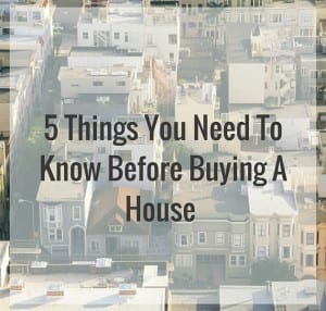 5 Tips for Buying A House