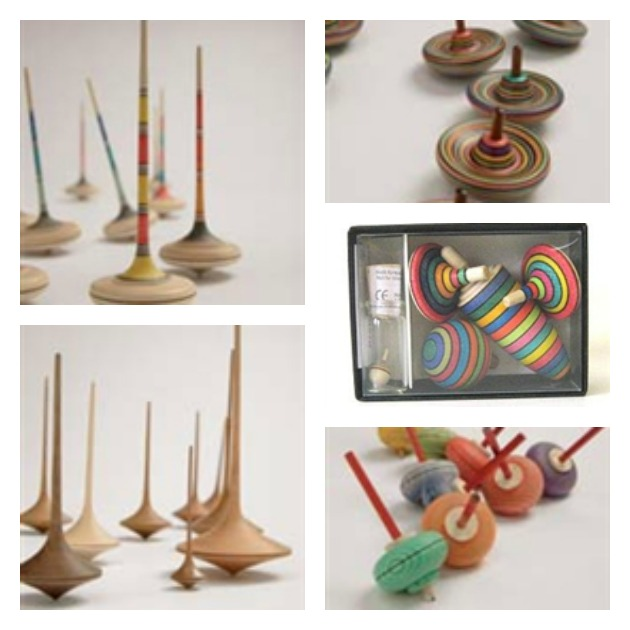 5 Handmade Wooden Toys: #3 Wooden Spinning Tops