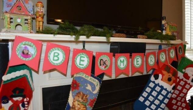 Adorable DIY Photo Banner Tutorial- Holiday Home Decor