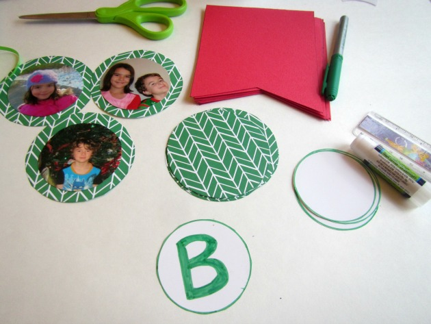 diy photo banner for the holidays