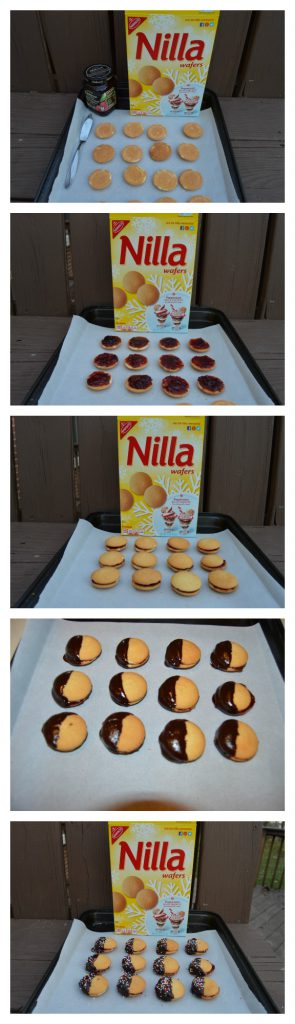easy steps for jam sandwich cookies