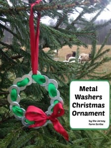 Mechanic's Metal Washers Christmas Ornament