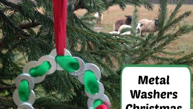 Mechanic's Metal Washers Christmas Ornament