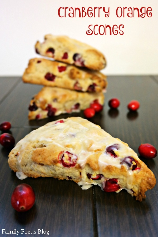 Cranberry Orange Scones Recipe - Family Focus Blog