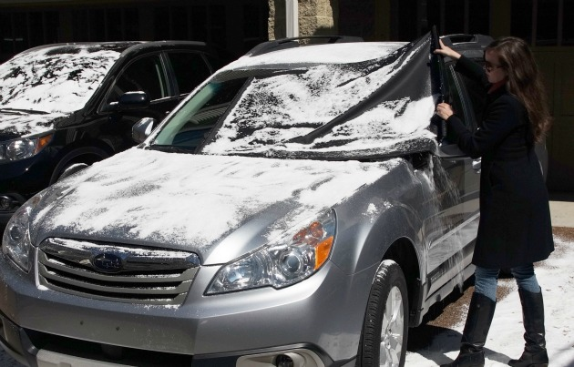 solution to scraping ice off your windshield