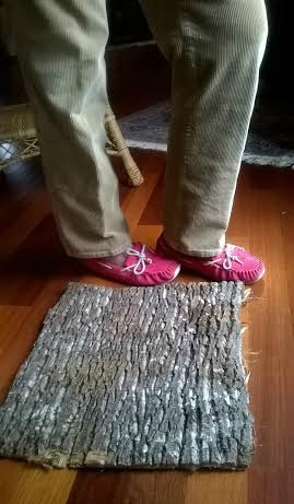 tree bark welcome mat