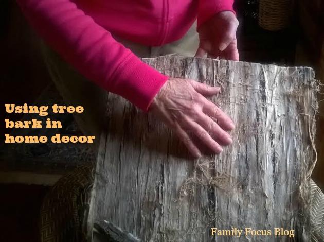 using tree bark in home decor
