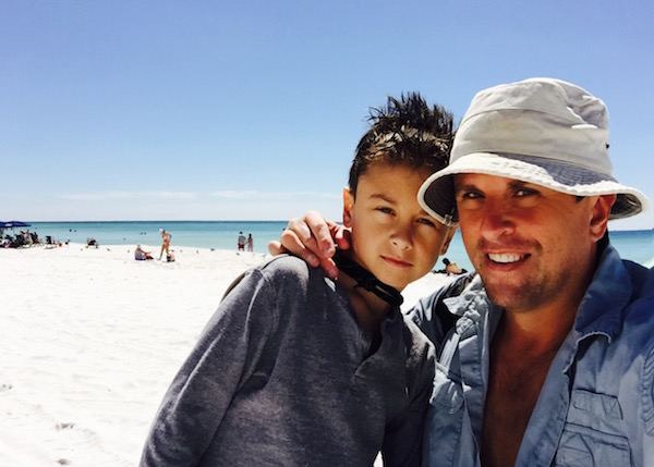 "My son and I on our ""family"" beach trip in 2015"