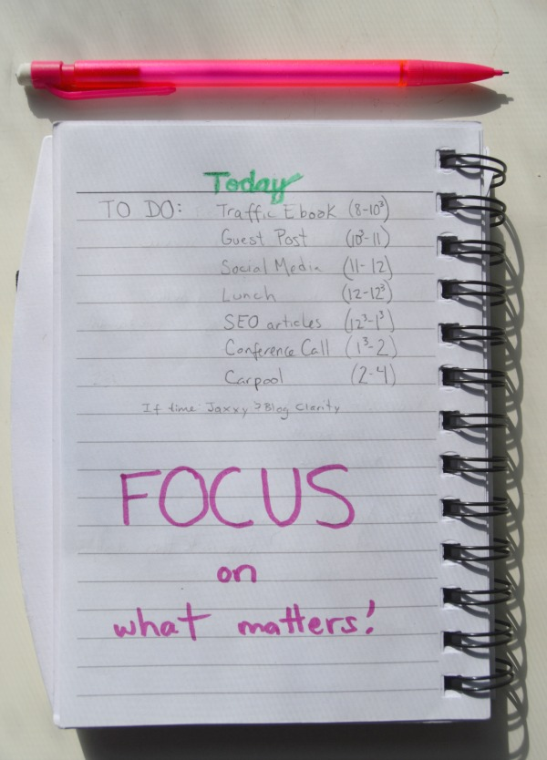 To Do Focus On What Matters