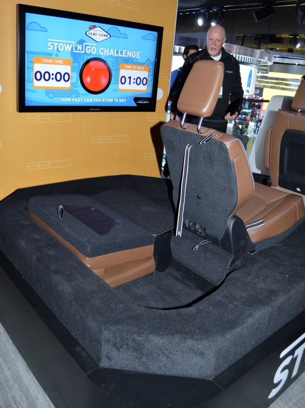 fold down electric hybrid minivan seats