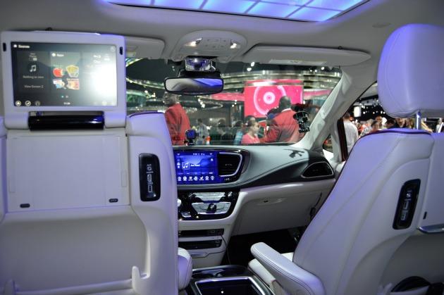 future hybrid minivan interior
