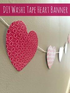 DIY Washi Tape Heart Banner