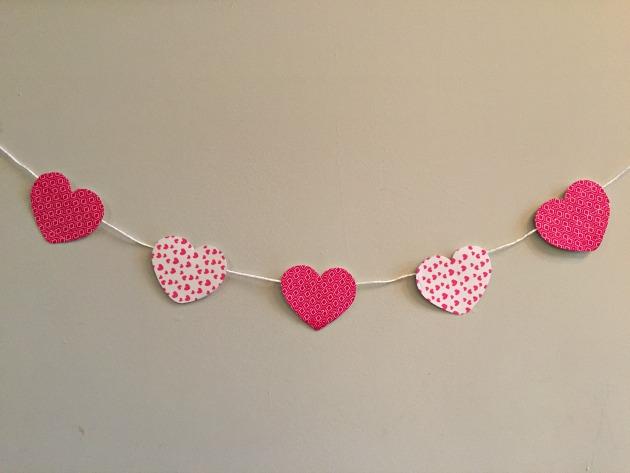 washi tape heart banner