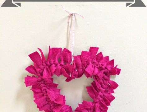 Valentine Heart Felt Wreath