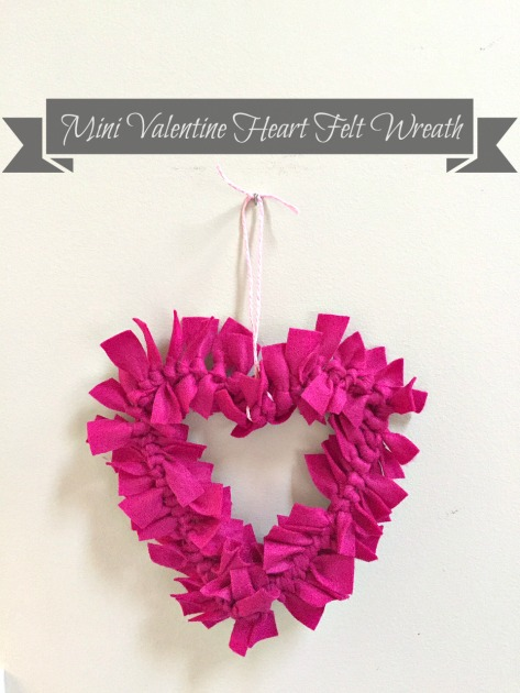 Mini Valentine Heart Felt Wreath Craft