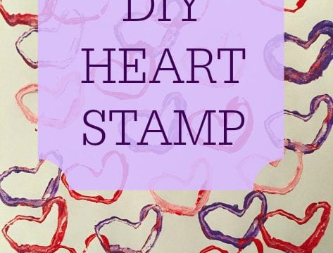 DIY Heart Stamps For Kids