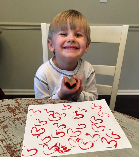 heart stamp craft