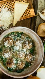 Healthy homemade meatballs recipe from Chef Rocco DiSpirito.