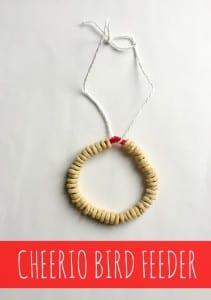 Cheerio Bird Feeder: Hanging Bird Feeder Craft For Kids