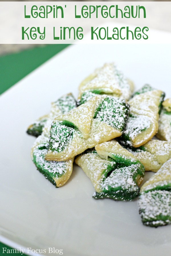 St. Patrick's Day cookies : Leapin' Leprechaun Key Lime Kolaches Recipe
