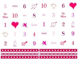 Valentine's Day Bingo Game with Free Printables