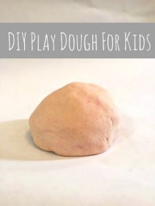 All Natural Play Dough Recipe For Kids