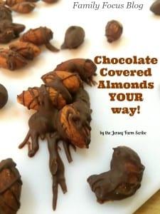 Dark Chocolate Covered Almonds Recipe- YOUR Way!