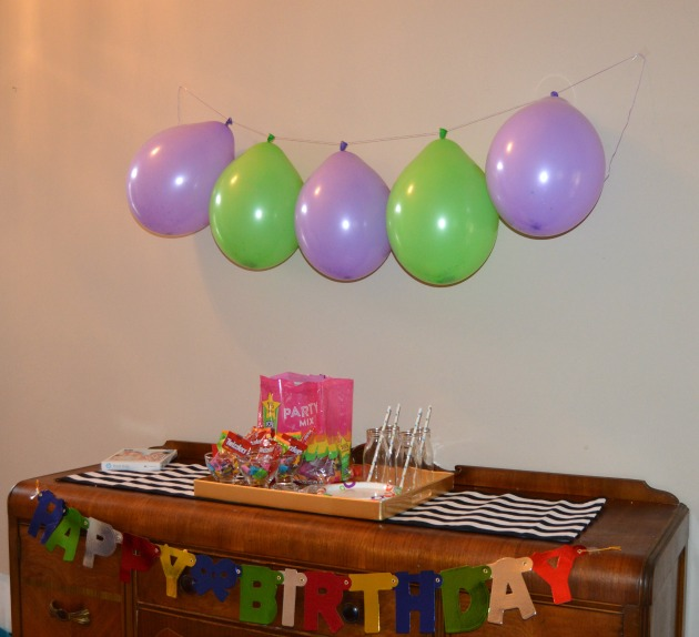Candy filled birthday balloon decoration ideas for Balloon decoration birthday