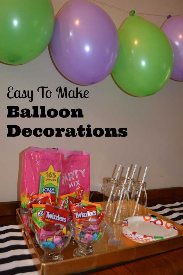 Candy filled birthday balloon decoration ideas for Ballon decoration ideas