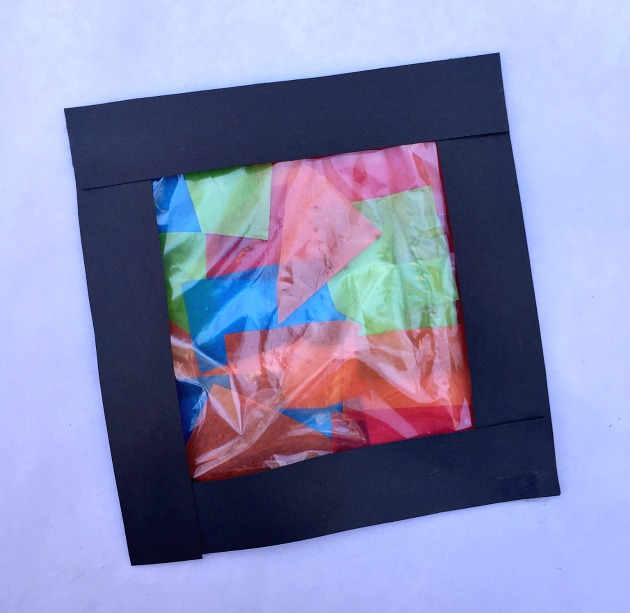 tissue paper art stained glass