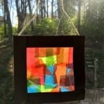 Tissue Paper Stained Glass Craft For Kids