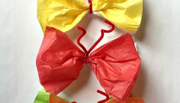Easy Spring Craft: Make Paper Butterflies