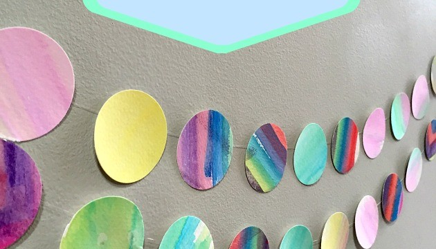 Fun Art Craft For Kids: Decorative Water Color Banner