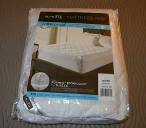 Cotton Waterproof Mattress Pad By Sure Fit: Review and Giveaway