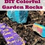 Colorful Painted Garden Rocks Craft