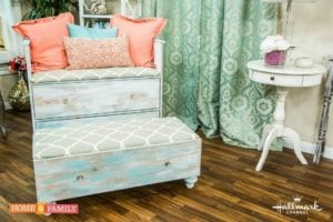 How To Upcycle An Old Dresser Into A Chair And Ottoman
