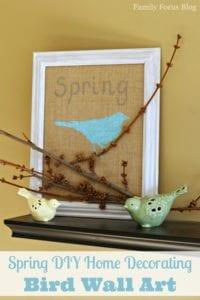 Spring DIY Home Decorating: Bird Wall Art