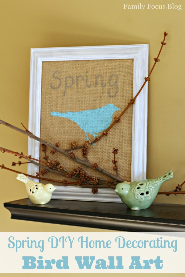 Spring diy home decorating bird wall art family focus blog - Art on walls home decorating ...