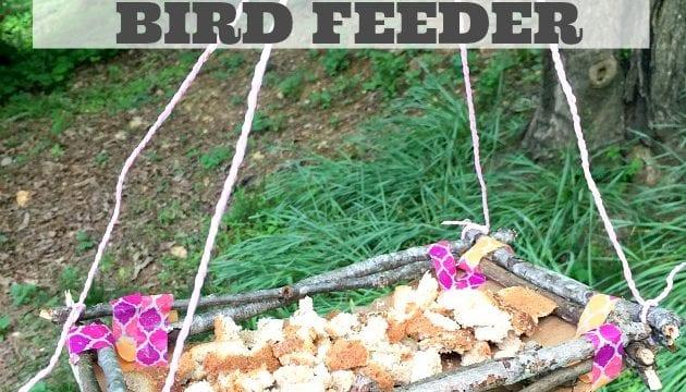 Make An Easy Bird Feeder: Charming Twig Bird Feeder Tutorial